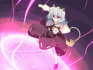 Rating: Safe Score: 21 Tags: animal animal_ears batsu dress gray_hair magic mouse mousegirl nazrin red_eyes short_hair tail touhou User: w7382001