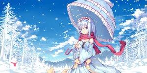 Rating: Safe Score: 54 Tags: forest headband hzyang original scarf snow snowman tree umbrella winter User: RyuZU