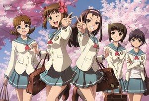 Rating: Safe Score: 15 Tags: akizuki_ritsuko amami_haruka brown_hair cherry_blossoms flowers hagiwara_yukiho idolmaster idolmaster_xenoglossia kikuchi_makoto megami minase_iori scan school_uniform User: Oyashiro-sama
