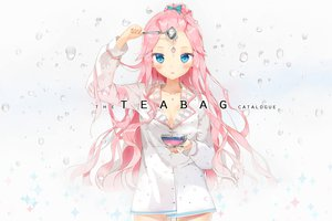 Rating: Safe Score: 108 Tags: anmi blue_eyes blush long_hair no_bra pink_hair tagme User: Wiresetc