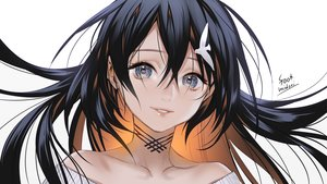 Rating: Safe Score: 64 Tags: black_hair close foo_midori gray_eyes long_hair original signed white User: otaku_emmy