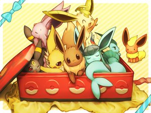 Rating: Safe Score: 151 Tags: eevee espeon flareon fuchisa glaceon jolteon leafeon pokemon sleeping sylveon umbreon vaporeon wink User: FormX