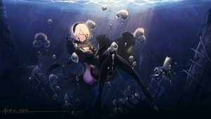Rating: Safe Score: 159 Tags: breasts bubbles dress nier nier:_automata nopan pod_(nier:_automata) robot short_hair signed tagme_(artist) thighhighs underwater water white_hair yorha_unit_no._2_type_b User: mattiasc02