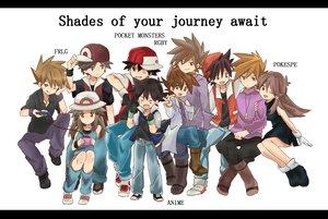 Rating: Safe Score: 50 Tags: group hat leaf_(pokemon) ookido_green ookido_shigeru pokemon red_(pokemon) satoshi_(pokemon) tagme white User: w7382001