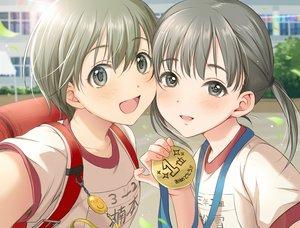 Rating: Safe Score: 23 Tags: 2girls blush gym_uniform loli original short_hair tsukana_(saba_mizore) twintails User: RyuZU