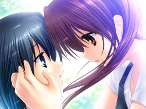 Rating: Safe Score: 11 Tags: black_hair blue_eyes brown_eyes brown_hair clannad kanako long_hair sakagami_takafumi short_hair tagme_(artist) tomoyo_after User: xararx