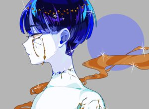 Rating: Safe Score: 53 Tags: anthropomorphism blue_eyes close gray hanasaki_coa houseki_no_kuni phosphophyllite short_hair tears topless User: otaku_emmy