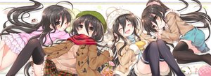 Rating: Safe Score: 99 Tags: black_hair blush brown_eyes dualscreen gloves hat loli necklace ponytail scarf shakugan_no_shana shana shorts skirt tachitsu_teto thighhighs waifu2x wink User: luckyluna