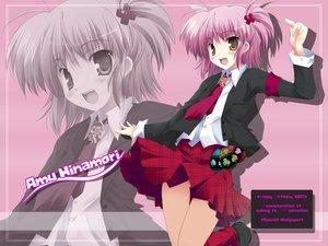 Rating: Safe Score: 36 Tags: hinamori_amu maruchan peach-pit pink_hair school_uniform shugo_chara tie yellow_eyes User: Oyashiro-sama