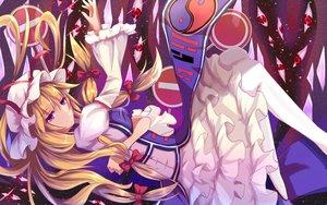 Rating: Safe Score: 35 Tags: baka_no_e blonde_hair dress hat purple_eyes ribbons touhou yakumo_yukari User: gnarf1975