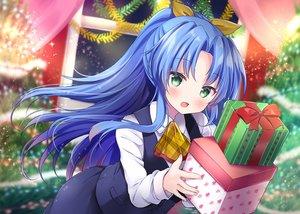 Rating: Safe Score: 37 Tags: blue_hair blush christmas green_eyes long_hair masayo_(gin_no_ame) original ponytail tree uniform User: BattlequeenYume