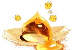 Rating: Safe Score: 46 Tags: animal bird chai_(artist) food honey original polychromatic wings User: otaku_emmy