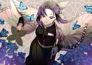 Rating: Safe Score: 43 Tags: butterfly katana kimetsu_no_yaiba kochou_shinobu otoshiro_kosame sword weapon User: FormX