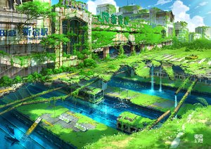 Rating: Safe Score: 59 Tags: animal building car city fish grass original ruins scenic tokyogenso train tree water watermark User: FormX