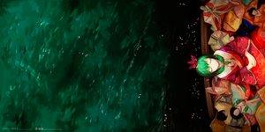 Rating: Safe Score: 71 Tags: boat doll green green_hair japanese_clothes jq kagiyama_hina kimono touhou water watermark User: Flandre93