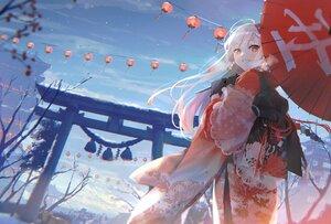 Rating: Safe Score: 70 Tags: japanese_clothes kimono long_hair original oyuyu torii umbrella User: Dreista