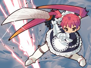 Rating: Safe Score: 29 Tags: armor maid monster_hunter red_hair sword weapon zankuro User: lost91colors