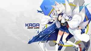 Rating: Safe Score: 96 Tags: animal_ears anthropomorphism aqua_eyes azur_lane breasts cleavage foxgirl japanese_clothes kaga_(azur_lane) kneehighs mask multiple_tails short_hair skirt tagme_(artist) tail white_hair User: BattlequeenYume
