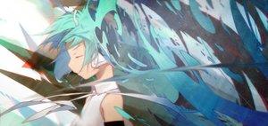Rating: Safe Score: 44 Tags: aqua_hair hatsune_miku long_hair tagme_(artist) twintails vocaloid User: luckyluna