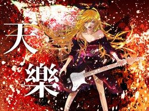 Rating: Safe Score: 47 Tags: guitar instrument kagamine_rin vocaloid yukinokoe User: HawthorneKitty