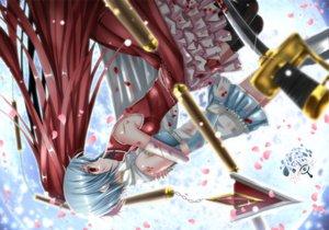 Rating: Safe Score: 41 Tags: mahou_shoujo_madoka_magica miki_sayaka sakura_kyouko swordsouls User: HawthorneKitty
