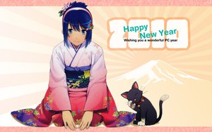 Rating: Safe Score: 42 Tags: animal blue_eyes blue_hair cat japanese_clothes kimono madobe_nanami microsoft os-tan short_hair windows User: fonmun
