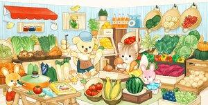 Rating: Safe Score: 14 Tags: animal apron bird cat dog dress drink food fruit hat original rabbit skirt somemachi watermelon User: otaku_emmy