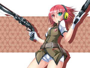 Rating: Safe Score: 52 Tags: bicolored_eyes gun headphones original red_hair suterii weapon User: HawthorneKitty