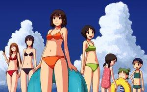 Rating: Safe Score: 14 Tags: ayase_asagi ayase_ena ayase_fuuka bikini group hiwatari koiwai_yotsuba miura_hayasaka swimsuit torako yotsubato! User: korokun