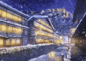 Rating: Safe Score: 62 Tags: building landscape night niko_p nobody original scenic signed snow water winter User: RyuZU