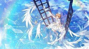 Rating: Safe Score: 66 Tags: card_captor_sakura kero kinomoto_sakura tagme_(artist) watermark User: luckyluna