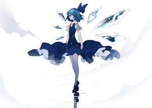 Rating: Safe Score: 50 Tags: blue_eyes blue_hair cirno dress fairy ikurauni reflection short_hair touhou wings User: RyuZU