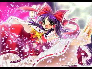 Rating: Safe Score: 11 Tags: hakurei_reimu japanese_clothes miko ofuda touhou User: Oyashiro-sama