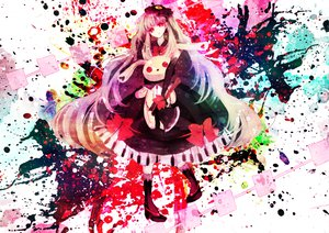 Rating: Safe Score: 97 Tags: doll kneehighs long_hair mayu_(vocaloid) mirimo red_eyes vocaloid User: FormX