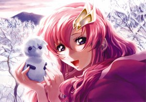 Rating: Safe Score: 13 Tags: gundam_seed lacus_clyne mobile_suit_gundam snow User: Oyashiro-sama