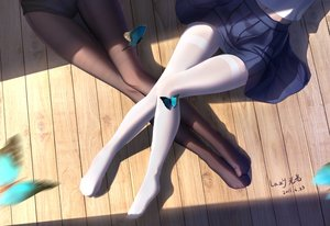 Rating: Safe Score: 142 Tags: 2girls butterfly lazy_guang_guang original pantyhose school_uniform signed User: BattlequeenYume