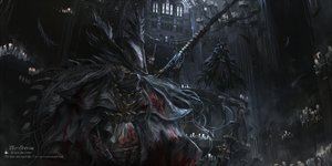 Rating: Safe Score: 84 Tags: blood bloodborne building cape eileen_the_crow feathers gothic gun hat long_hair stu_dts the_hunter weapon User: otaku_emmy