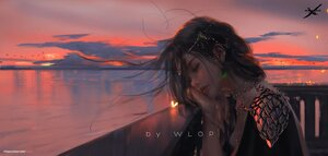 Rating: Safe Score: 36 Tags: close ghostblade princess_aeolian realistic reflection sunset watermark wlop User: ssagwp