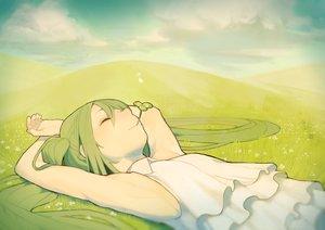 Rating: Safe Score: 90 Tags: grass green_hair hatsune_miku misoni_comi vocaloid User: FormX