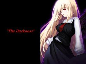 Rating: Safe Score: 14 Tags: black blonde_hair dress long_hair red_eyes rumia touhou User: Oyashiro-sama