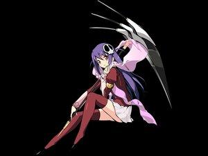 Rating: Safe Score: 121 Tags: haqua_du_lot_herminium kami_nomi_zo_shiru_sekai purple_hair scythe thighhighs transparent vector weapon User: Wiresetc