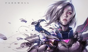 Rating: Safe Score: 131 Tags: chengwei_pan fiora gray_hair league_of_legends pink_eyes realistic robot short_hair techgirl watermark User: otaku_emmy
