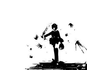 Rating: Safe Score: 13 Tags: blood elfen_lied monochrome nana_(elfen_lied) white User: Oyashiro-sama