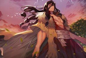 Rating: Safe Score: 27 Tags: all_male animal bird black_hair brown_eyes clouds dr._stone long_hair male peach_luo shishiou_tsukasa sky User: RyuZU