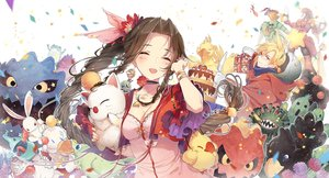 Rating: Safe Score: 105 Tags: aerith_gainsborough bomb_(final_fantasy) breasts brown_hair cactuar chocobo cleavage cloud_strife dress emerald_weapon final_fantasy final_fantasy_vii flowers hungry jumping kieta long_hair magic_pot malboro moogle mover ruby_weapon sabotender tagme_(character) tonberry User: RyuZU