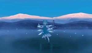 Rating: Safe Score: 20 Tags: aqua_hair building cirno dress fairy hinami047 short_hair sky touhou wings User: RyuZU