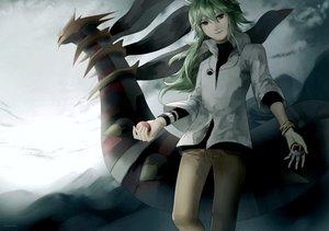Rating: Safe Score: 57 Tags: giratina gray_eyes green_hair n pokemon watermark User: earl-phantomhive