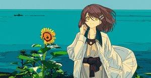 Rating: Safe Score: 8 Tags: flowers kogecha_(coge_ch) original sunflower User: FormX