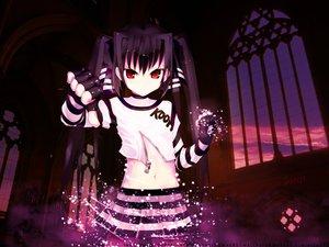 Rating: Safe Score: 35 Tags: black_hair kooh long_hair pangya red_eyes skirt twintails User: Oyashiro-sama