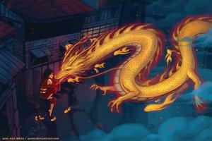 Rating: Safe Score: 102 Tags: building dragon night original qinni User: FormX